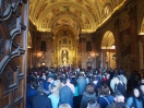 Inside a church called the Basilica de la Macarena